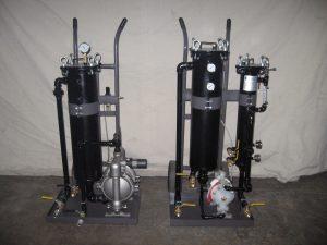 Coolant filter cart