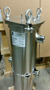 Stainless Steel Electopolished Bag Filter with Sanitary Connections