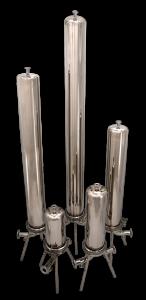 Single Sanitary Cartridge Liquid Filter Vessels